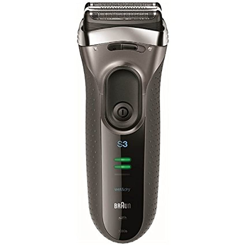 やさしい否定するサーフィンブラウン メンズシェーバー シリーズ3 3080s-S-P 3枚刃 お風呂剃り可 シルバー