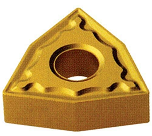 "Cobra Carbide 41921 Solid Carbide Turning Insert, C520 Grade, Uncoated (Bright) Finish, WNMG Style, cm Chipbreaker, WNMG 331, 3/16"" Thick, 1/64"" Radius (Pack of 10)"