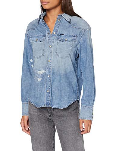 G-STAR RAW Dames Shirt Western Denim RelaxedG-Star Raw Dames Shirt Western Denim Relaxed, Sun Faded Capri Blue Restored C437-c184, S