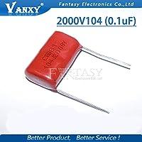 10個0.1uF 2000V 2KV CBB 104 100NFポリプロピレンフィルムコンデンサピッチ25mm CBB81