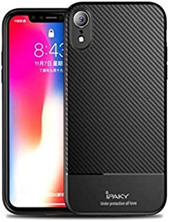 Silicone Case for iphone XR iPaky Carbon Fiber - Black