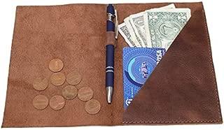 Hide & Drink, Leather Bifold Check Presenter With Pen Slot/Restaurant & Cafe Accessories/Bill Holder/Waiter/Waitress, Handmade Includes 101 Year Warranty :: Bourbon Brown