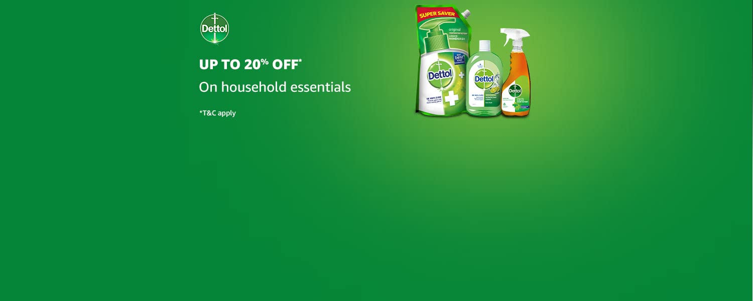Amazon Offers Today-Coupons-Promo Codes - Up To 20% discount on Dettol Household Essentials