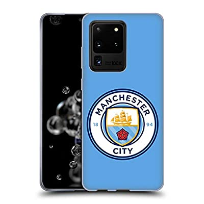 Head Case Designs Officially Licensed Manchester City Man City FC Blue Full Colour Badge Soft Gel Case Compatible with Samsung Galaxy S20 Ultra 5G