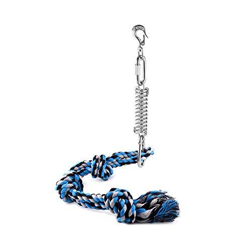 Dynamicoz Bastón De Resorte Duradero para Pitbull Spring Pole Dog Rope Toys Un Gran Kit De Bastón De Resorte para Pitbull Y Perros Medianos A Grandes