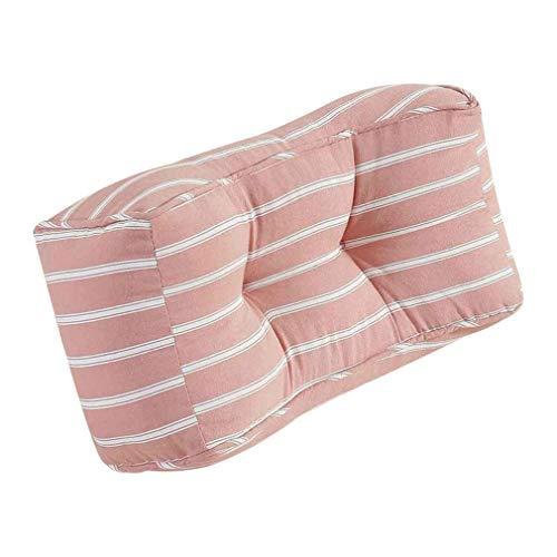 Almohada de soporte lumbar, cojín trasero de almohada lumbar de algodón lumbar usado para aliviar el dolor de almohada de dolor lumbar, para el trabajo del asiento del automóvil y la silla de oficina