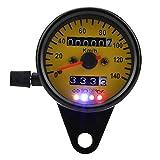 Cuentakilómetros de motocicleta, indicador de velocímetro de 60 mm con indicador negro