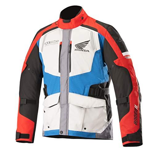 Alpinestars Honda Andes v2 Drystar Motorrad Textiljacke Weiß/Rot/Schwarz M