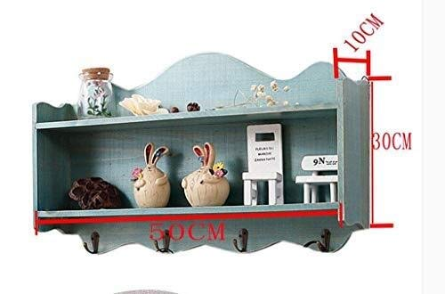 Wall mount Wall Shelf Design Decoration Cabinet Structure Simple Woodwooden Material Storage Retro Locker Key Set Mini Household Bluesturdy Shackle Modern Colour Name Blue Best