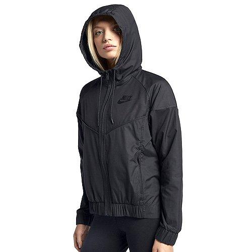 Nike Womens Lightweight Hooded Windbreaker Jacket Black M
