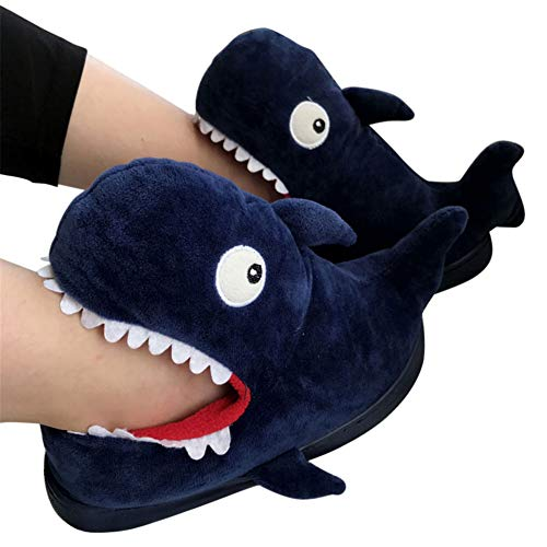 Price comparison product image Aimeely Women Cute Whale Plush Slippers Winter Warm Home Animals Slipper US6-7