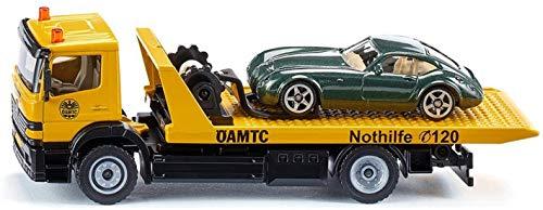 Siku 2712038, ÖAMTC-Abschleppwagen Österreich, 1:55, Metall/Kunststoff, Gelb, Originalgetreue Funktionen, Inkl. abzuschleppendem Spielzeugauto
