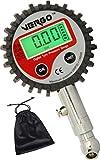 VERGO Manometro Pressione Digitale per Pneumatici - Misuratore di Prova Pressione - LCD Retroilluminato - Scala Multipla 0-200 PSI/0-14 Bar - Auto Camion Moto - 360 Gradi Rotazione-Sacchetto Incluso
