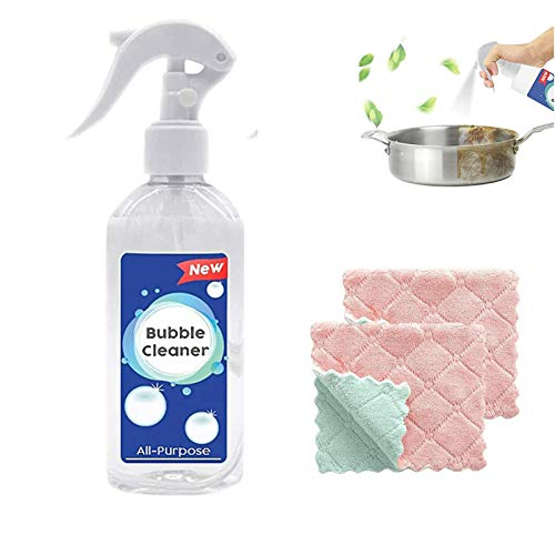 Extra-Foamy Kitchen Magic Cleaner, All-Purpose Bubble Cleaner Rinse-Free, Cleaning Spray Kitchen Wash Wipe, Powerful Foam Degreaser Removes Oil Stains(100ML)