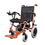 Sillas de ruedas asistidas y de transporte Nueva silla de ruedas eléctrica - Motor sin escobillas mejorado Batería de litio Plegable Ligero Inhabilitado Silla de ruedas para personas mayores Caminante
