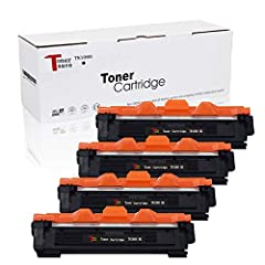 1,000 Pages at 5% coverage verified by ISO9001 & ISO14001. 4 Pack For Brother TN1060 Toner Cartridge consistently produce sharp & crisp text and images. Use For Printers: Brother HL-1210   HL-1210W   HL-1212W   HL-1110   HL-1110E   HL-1110R   HL-1112...