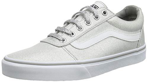 Vans Damen Ward Canvas Sneaker, Grau ((Lurex Glitter) Silver V2a), 37 EU