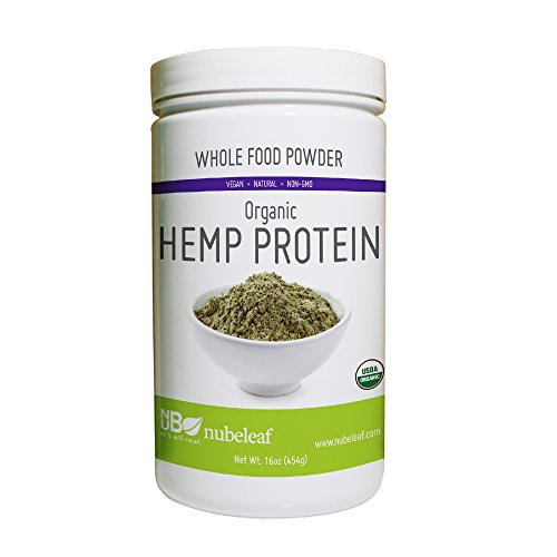 Nubeleaf Hemp 40% Protein Powder - Non-GMO, Gluten-Free, Raw, Organic, Vegan Source of Fiber & Essential Amino Acids - Single-Ingredient Nutrient Rich Superfood for Cooking, Baking, Smoothies (1lb)