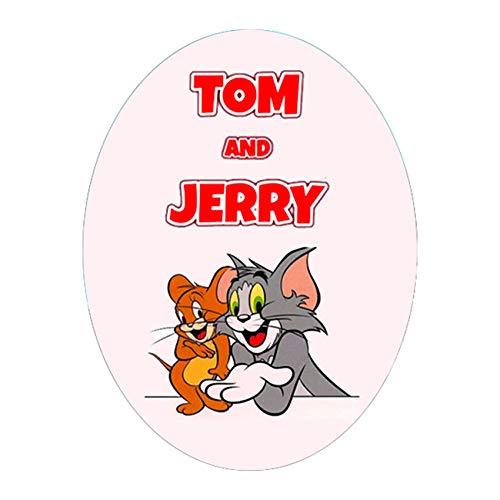 Uovo di Pasqua ARTIGIANALE cioccolato al latte e fondente TOM AND JERRY con SORPRESA, puoi anche personalizzare l'uovo a tuo piacimento! (CIOCCOLATO FONDENTE, 10 KG)