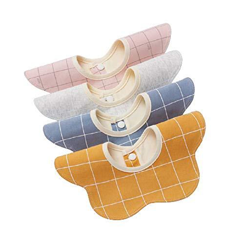 Chew Baberos Bebe,Baberos alimentación,cómodo,Transpirable,se Puede Lavar Directamente,se Puede Girar 360 °,Fuerte absorción de Agua,se Puede Usar Cuando los bebés babean y comen,Unisex