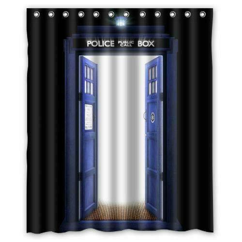caichaxin Awesome Doctor Who Tardis Wunderschöner und umweltfreundlicher Duschvorhang, wasserdicht und tragbar