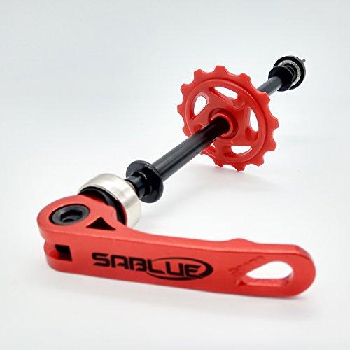 SABLUE Float On Achse Fahrradkettenhalter Dummy Sleeping Hub Tool Fahrrad Reinigung Transport (rot)