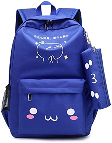 QWKZH Sacs à Dos Teen sac à dos Girls School sacs for Teenage USB grand capacité femmes Book sac Quality Nylon Schoolsac Cute Cat Back Pack Female