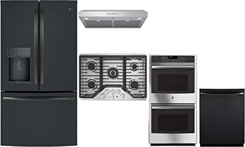 GE Profile 5 Pcs Kitchen Package with 36 Fridge 30 Natural Gas Cooktop 30 Under Cabinet Convertible product image