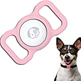 Spring Blossoms AirTag Protective Case Compatible for Airtag, Anti-Scratch Pet Loop Holder for AirTag, GPS Tracking Dog Cat Accessories AirTag Silicone Collar Skin Cover for Anti-Lost Locator