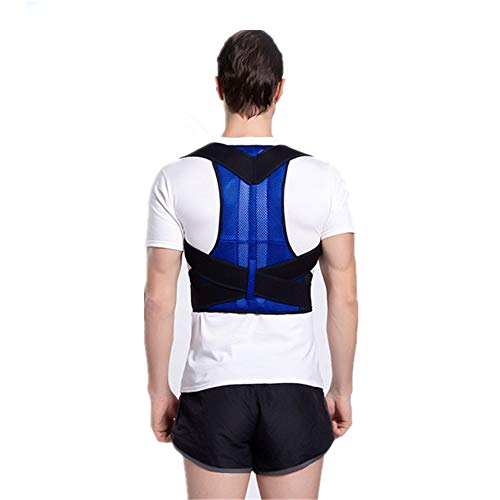 Horen Haltungskorrektor Rückenstützgürtel orthopädische Haltungskorsett Rückenbandage Unterstützung Männer Rücken gerade Schulter (S-3XL) xl blau