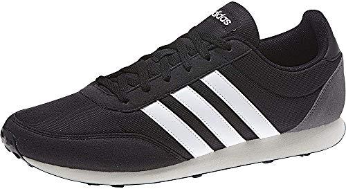 adidas V Racer 2.0, Zapatillas de Running Hombre, Negro (Core Black/FTWR White/Grey Five Core Black/FTWR White/Grey Five), 36 EU
