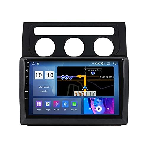 ADMLZQQ Autoradio Android 10 Radio Coche para Volkswagen Touran 2003-2010 Navegación GPS Soporta Control del Volante FM Manos Libres Bluetooth cámara de visión Trasera,A,M300S
