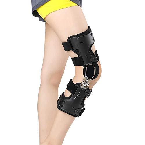 ASDFGH Ajustable Rodilla articulada Brace Ligera Rodilla Ortesis inmovilizador ROM Post Op Protector de la Pata estabilizadora for la Artritis lesión del ligamento ACL (Color : Right)