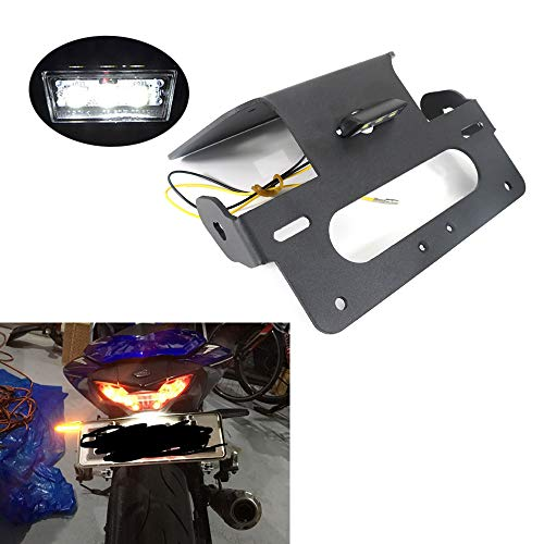 Xitomer Fender Eliminator Fit For 2015 2016 2017 2018 2019 Yamaha YZF-R3 / YZF-R25 / MT-25 / MT-03, R3 Tail Tidy, with Led License Plate Light, Compatible with OEM / Stock Turn Signal / Indicator