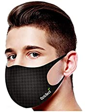 Optitect Reusable Face Mask Patented Technology -Copper Face Mask-Silver and Copper Yarn-Triple Layer Protection - Washable Mask-99.9% Prtection