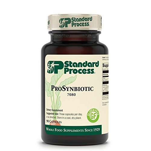 Standard Process ProSynbiotic - Whole Food Bowel, Immune Support, Digestion and Digestive Health with Bifidobacterium, Chicory Root, Lactobacillus Acidophilus, and Inulin - Vegetarian - 90 Capsules