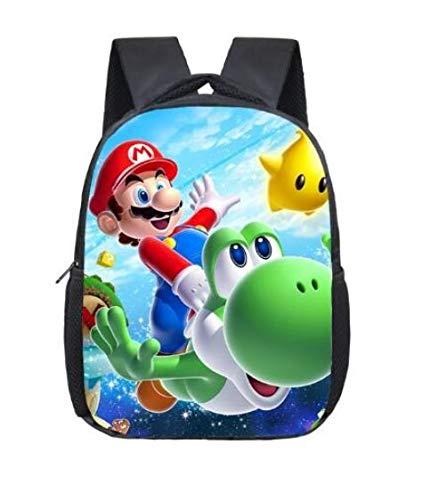 Mario rugzak Yoshi - kinderen - kinderrugzak - rugtas - tas - schooltas - 30x22 cm (lxb)