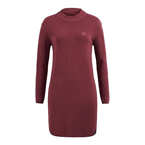 khujo Damen Kleid VELIA mit Zopfstrick auf den Ärmeln