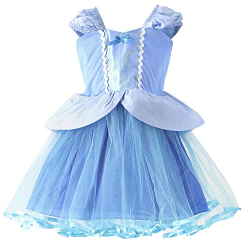 Catherine Cottage テーマパーク ハロウィン 衣装 お姫様 プリンセス子供ドレス 女の子 LK001 120cm シンデレラ風[BLU]