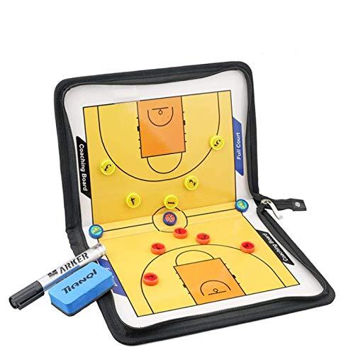 Buy Discount LIJIANGUO Pull Chain Folding Basketball Coaching Board Coaches Clipboard Dry Erase w/Ma...