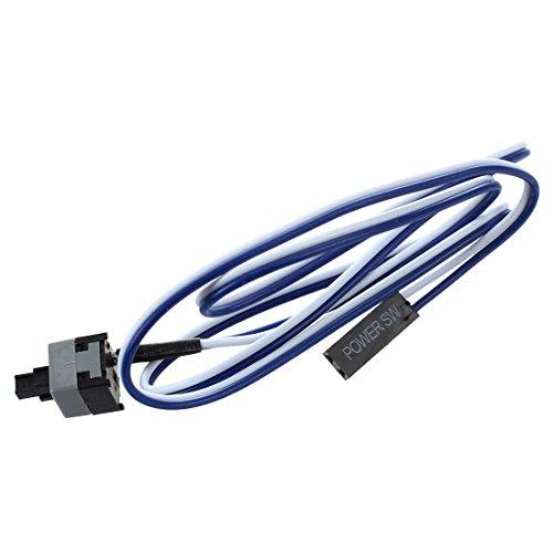 SODIAL(R) 20.5 pulgada largo Cable del interruptor del boton de potencia para PC Interruptores Restablecer Computadora