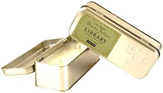 Paddywax Candles Library Collection Charles Dickens Scented Travel Tin Soy Wax Candle (Tangerine Juniper and Clove)