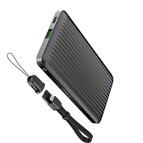 Omars 10000mAh Powerbank Externer Akku 2 Ausgänge Fast Charge 9V 2A USB-A & USB-C mit Power Delivery 18W für Handy iPhone Samsung Galaxy S7 S8 S9 Huawei 10000 Power Bank
