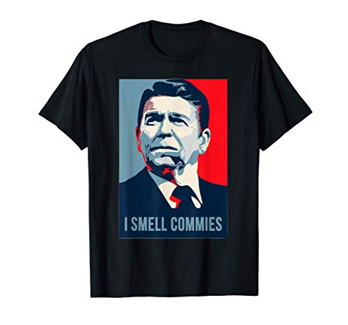 Ronald Reagan President i smell commies american apparel T-Shirt