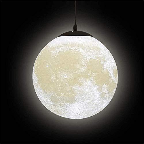 Luces colgantes de la luna de la impresión 3D creative - Planet Techo Noche Lámpara Linterna Restaurante Bar Inicio Niños Dormitorio E27 Zócalo Colgante de iluminación (la bombilla no está incluida)
