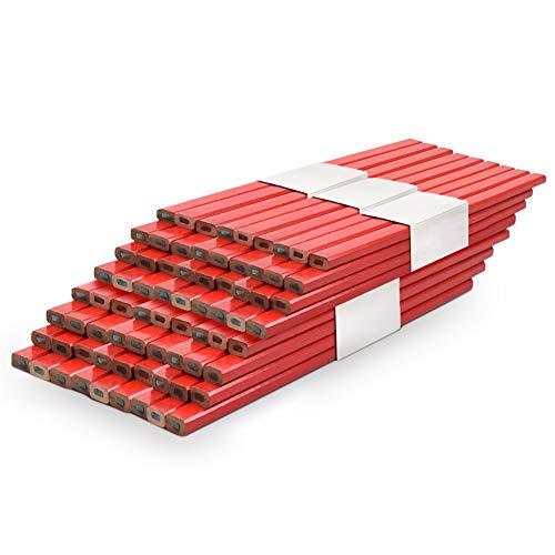 Cocoarm Zimmermannsbleistifte Bleistifte Baustellen Zimmermann Bleistift Baustelle Holzbearbeitung Bleistift 72 Stücke 175mm Zimmermannsbleistifte Set zum Markieren und Anzeichnen auf Baustelle