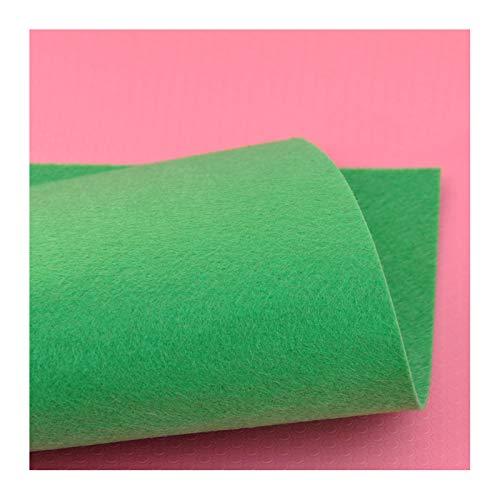 XIAOZHEN Hojas de Fieltro Fieltro para Manualidades por Metros 90cm de Ancho 1mm de Grosor para Costura y Artesanías de Bricolaje(Color:Verde)