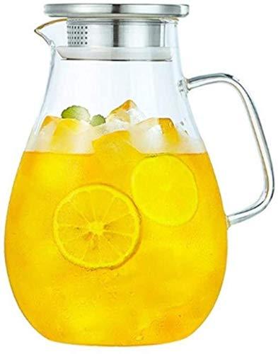 Tetera Tetera de 2,0 l / l Bidón con la explosión anti-tapa de la botella de agua de la jarra de agua del jugo del agua de la jarra jarra de cristal jarra de cristal jarra de vidrio Jarra de té Jug ve