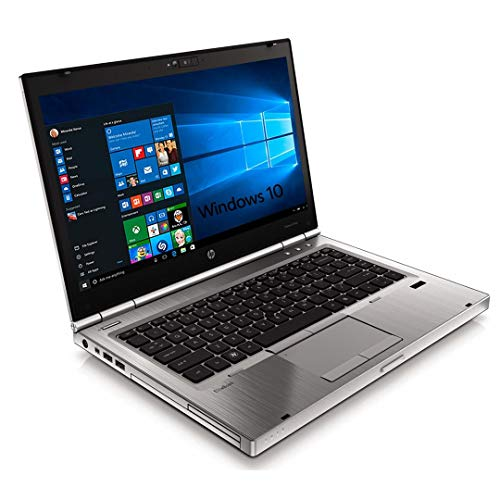 (Renewed) HP Elitebook Laptop 8470p Intel Core i5 - 3320m Processor, 8 GB Ram & 128 GB ssd, Win10, 14.1 Inches Silver Notebook Computer