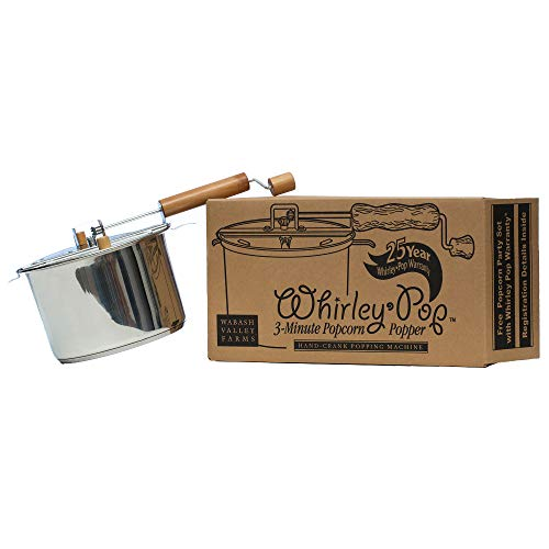 Whirley-Pop Popcorn Popper - Metal Gear - Stainless Steel